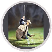 Fisherman II Round Beach Towel