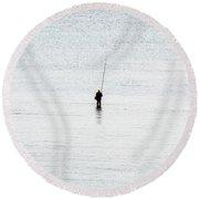 Fisherman Round Beach Towel