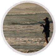 Fisherman Round Beach Towel by Steve Karol