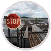 Fishermans Dock Round Beach Towel