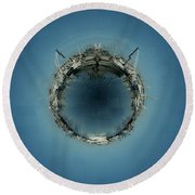 Fishermans Terminal 5 Round Beach Towel