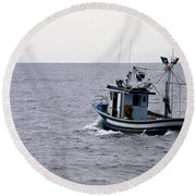 Fishermen Round Beach Towel