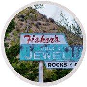 Fisher's Jewelry Round Beach Towel
