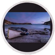 Fishing After Hours Round Beach Towel