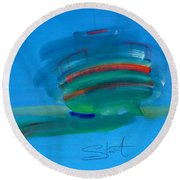 Fishing Boat Hastings Round Beach Towel