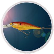 Fishing Lure  Round Beach Towel