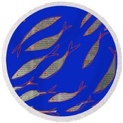 Fishing News Round Beach Towel