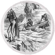 Fishing Rights, 1877 Round Beach Towel