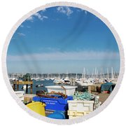 Fishing Things Round Beach Towel