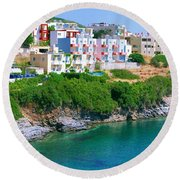 Fishing Village Bali Round Beach Towel