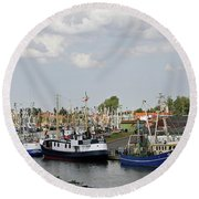 Fishingport Buesum Round Beach Towel
