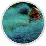 Fishnet Round Beach Towel by Okan YILMAZ