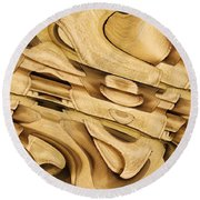 Fitted Wood Round Beach Towel