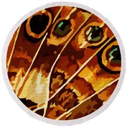 Five Eyes Round Beach Towel