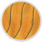 Five Fender Guitars Round Beach Towel