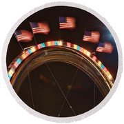 Five Flags Round Beach Towel