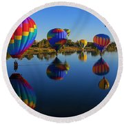 Five On The Water Round Beach Towel