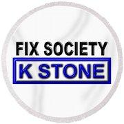 Fix Society 2nd Edition Round Beach Towel