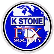 Fix Society Round Beach Towel