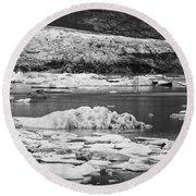 Fjallsarlon Glacier Lagoon Iceland 2348 Round Beach Towel