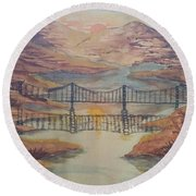 Fjord Round Beach Towel