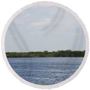 Fla Everglades Round Beach Towel