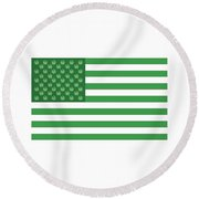 Flag 2 Round Beach Towel