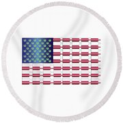 Flag Bottles3 Round Beach Towel