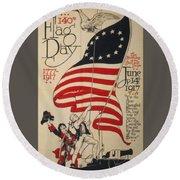 Flag Day 1917 Round Beach Towel