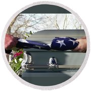 Flag For The Fallen Round Beach Towel