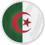 Flag Of Algeria Wall. Round Beach Towel