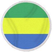 Flag Of Gabon Wall. Round Beach Towel