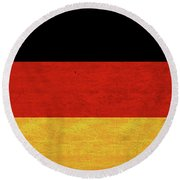Flag Of Germany Grunge Round Beach Towel