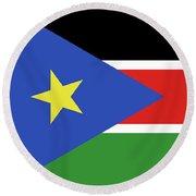 Flag Of  South Sudan  Round Beach Towel
