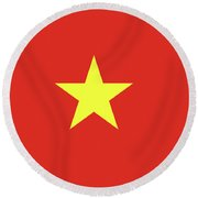 Flag Of Vietnam  Round Beach Towel