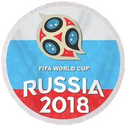 Flag Russia World Cup Round Beach Towel