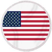 Flag1 Round Beach Towel