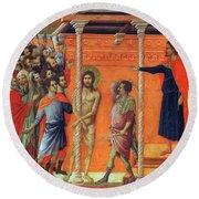 Flagellation Of Christ 1311 Round Beach Towel