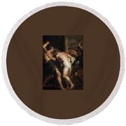 Flagellation Of Christ 2 Peter Paul Rubens Round Beach Towel