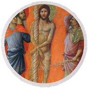 Flagellation Of Christ Fragment 1311 Round Beach Towel