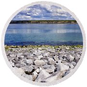 Flaggy Shore Round Beach Towel