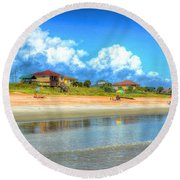 Flagler Beach Morning Round Beach Towel