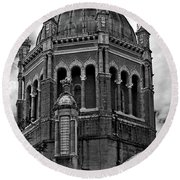 Flagler Memorial Presbyterian Church 3  B-w Round Beach Towel