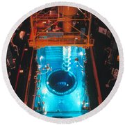 Flamanville Nuclear Power Plant Round Beach Towel