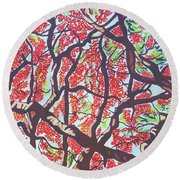Flamboyant Beauty Round Beach Towel