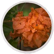 Flame Azalea Round Beach Towel