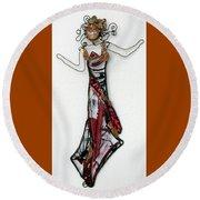 Flame Dancer Round Beach Towel