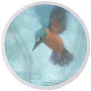 Flame In The Mist Round Beach Towel