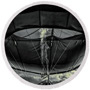 Flame On Hot Air Balloon Round Beach Towel