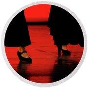 Flamenco 2 Round Beach Towel